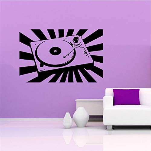 Vinyl Muursticker Room Muziek DJ Mixer Stereo Geluid Trance EDM Cool 40x63cm