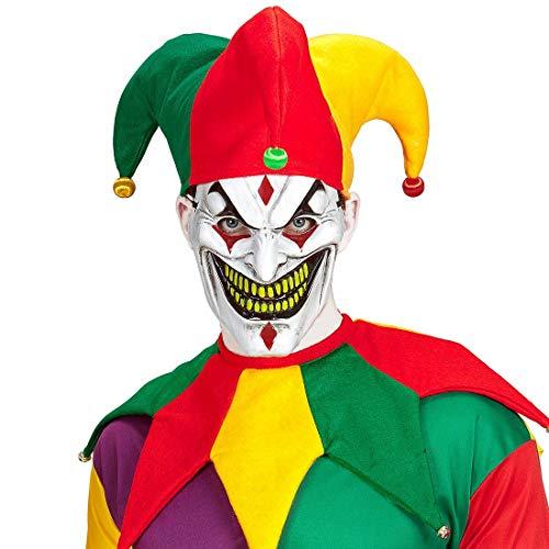 NET TOYS Farbenfrohes Kostüm-Set mit Narren-Kappe & -Kragen - Verspielte Unisex-Verkleidung Kostüm-Set Kasper & Hofnarr - Bestens geeignet für Fasching & Karneval