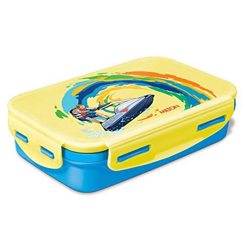 Milton Steely Deluxe Inner Steel Kids Tiffin Box, 525 ml, Cyan