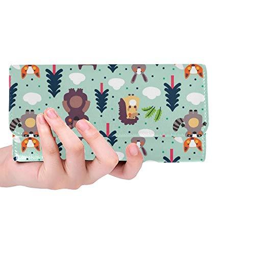 Einzigartige benutzerdefinierte lustige Tier Moderne Frauen Trifold Wallet Lange Geldbörse Kreditkarteninhaber Fall Handtasche