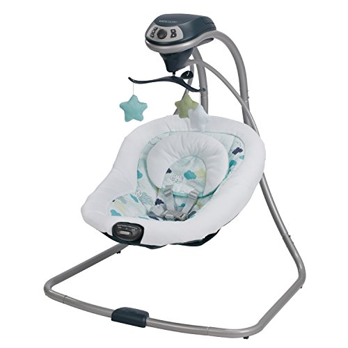 Graco Simple Sway Baby Swing | 2 Speed Vibration, Stratus