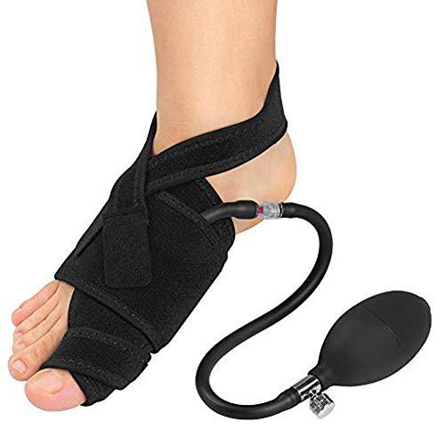 Corrector de juanetes inflable derecha derecho con soporte ortopédico neumático, férula de hallux valgus con barra para alivio del dolor nocturno, recuperación de cirugía de juanetes