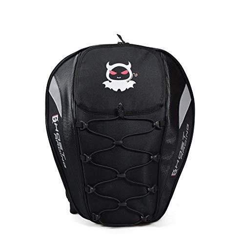 ZXF Oxford Tuch große kapazität Motorrad Schwanz Paket rennen rücksitz Tasche männer und Frauen Rucksack Helm Motorrad Tasche reiten multifunktionstasche schwarz Reise