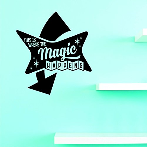 Design with Vinyl Top Selling Decals This is Where The Magic Happens Wall Art