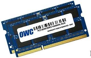 OWC Módulo de Memoria SO-DIMM PC8500 DDR3 sin ECC de 16 GB (2 x 8 GB) de 1066 MHz y 204 Pines (8566DDR3S16P), para MacBook...