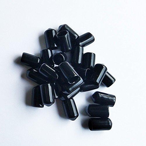 LGEGE - 3/8', 25 Pcs Black Screw Thread Protectors
