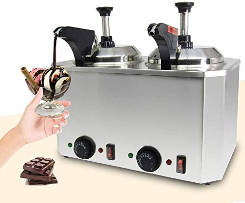Wxnnx Bomba calentadora de Chocolate, Bomba dispensadora de Calentador de Queso eléctrico de Acero Inoxidable 30-110 ℃ con Lata de 2,5 l para Chocolate/Caramelo/Queso/Mantequilla,B
