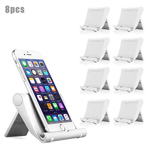 8 PCS Holder Support de Téléphone Portable de Bureau,Universel,YiCTe pour Tous Les écrans de Tablette de Smartphones, Kindle iPad Huawei Samsung Galaxy,LG,Sony,Moto,LG,Google Pixel,Nexus, 8 blanc