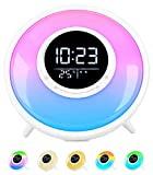All -in-One Wake Up Light Alarm Clock with FM Radio, Sleep Sound Machine,Sleep