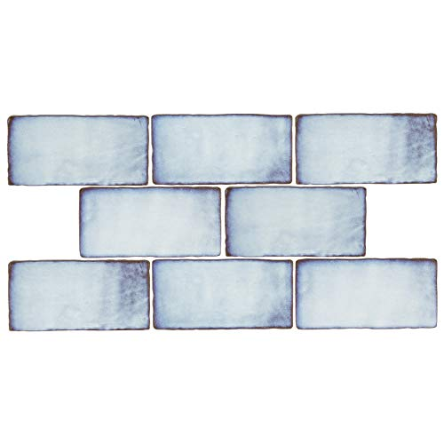 SomerTile WCVASV Antigue Special Via Lactea Ceramic Wall Tile, 3' x 6', Blue/Brown