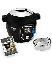 Krups CZ7158 Cook4Me+ Connect - Olla a presión eléctrica (1600 W, incluye aplicación gratuita, control Bluetooth, 4 L), color negro y gris
