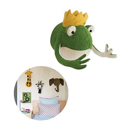 WFWUK Deco Chambre Bebe Garcon Tete Mural Mur Crochet Tenture Décoration pour La Maison Tenture Décoration pour Chambres Animaux Mural Décoration Frog
