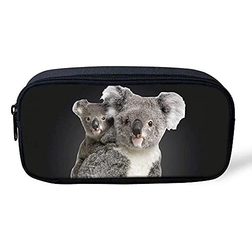 Estuches para niñas adolescentes lindo Koala impreso monedero monedero monedero mujeres pequeño maquillaje cosmético bolsa