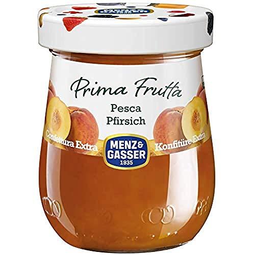 Menz&Gasser Confettura Extra di Pesche Prima Frutta - Confettura con Frutta di Alta Qualità, 1 Vaso x 340 g