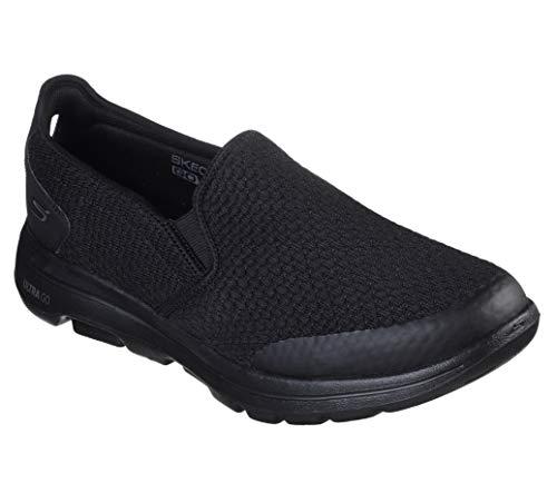 Skechers Men's Gowalk 5 Apprize-Double Gore Slip on Performance Walking Shoe Sneaker, Black, 9 Extra Wide US