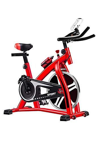 LLHAI Ajustable de Bicicleta de Ejercicios, Culturismo Bajar de Peso de la Bicicleta con el Asiento, Mute Trainer Cubierta para intensificar el Ejercicio Fitness Equipment