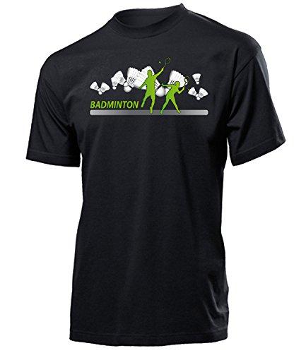 Badminton Geburtstag Geschenke Herren Männer t Shirt Tshirt t-Shirt Federball zubehör Bekleidung Oberteil Hemd Kleidung Outfit Spruch Fun witzig Artikel