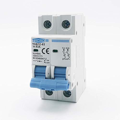 2P DC 1000V Mini disyuntor solar 3A 6A 10A 16A 20A 25A 32A 40A 50A 63A DC MCB para PV -50A