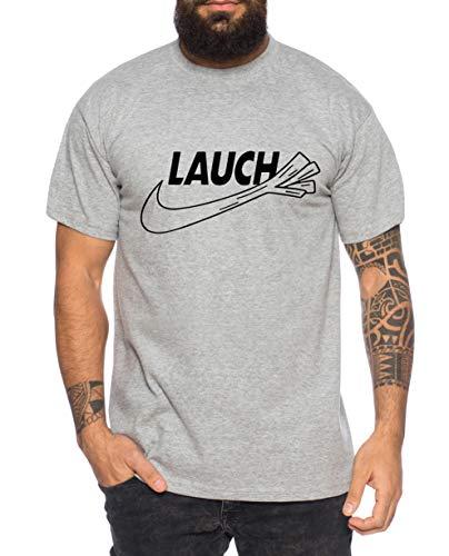 Tee Kiki Lauch Herren T-Shirt Cooles lustiges Fun-Shirt, XXL, Dunkelgrau Meliert