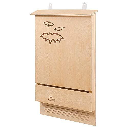 Ferplast Maison pour chauve-souris BAT HOUSE Nid pour chauve-souris en bois FSC, Protection contre les moustiques et insectes écologique et naturel