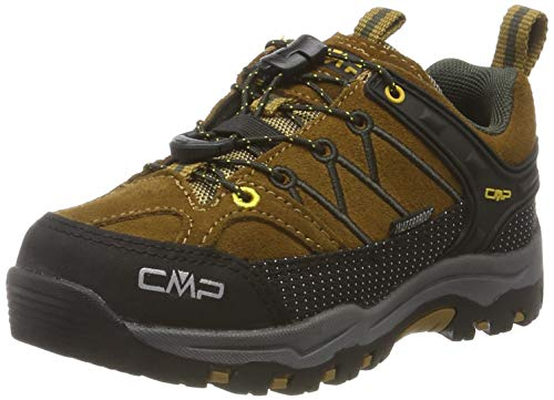 CMP Kids Rigel Low Trekking Shoes WP, Scarpe da Arrampicata Basse Unisex-Bambini, Marrone (Senape-Arabica 03pd), 29 EU