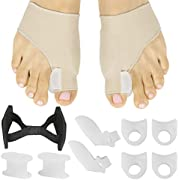 ViveSole Bunion Kit (11 Pcs) - Corrector Relief Sock Brace, Toe Spacer Guard - Hallux Valgus Splint Foot Protector, Big Hammer Joint Straightener, Separator, Feet Pain Recovery Treatment