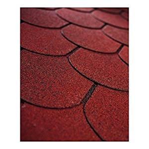 3m x 3m GARDEN WOODEN PAVILION GAZEBO WITH TRELLIS & PERGOLA WITH OPTIONAL SHINGLES (With red shingles)