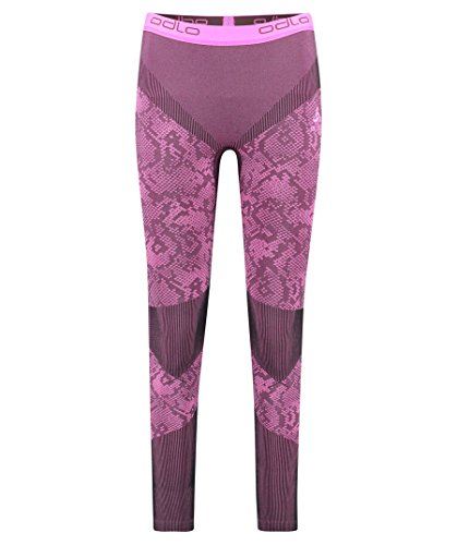 Odlo Blackcomb Evolution Warm Pantalon Femme, Noir/Rose Glo, XL