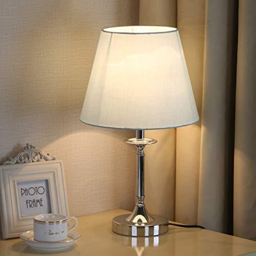 PLLP Lámpara de escritorio de lectura, dormitorio estudiantil, lámpara de mesa, lámpara, arte, pantalla de arte, lámpara de mesa de hierro simple, luces decorativas, fuente de luz E27, interruptor de