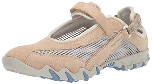 ALLROUNDER by MEPHISTO Women's Niro Mary Jane Sneaker,Nature/Cool Grey,8.5 M US
