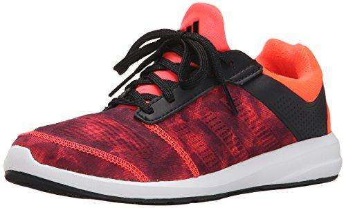 adidas Performance S-Flex K Running Shoe ,Black/Red/White,12 M US Little Kid