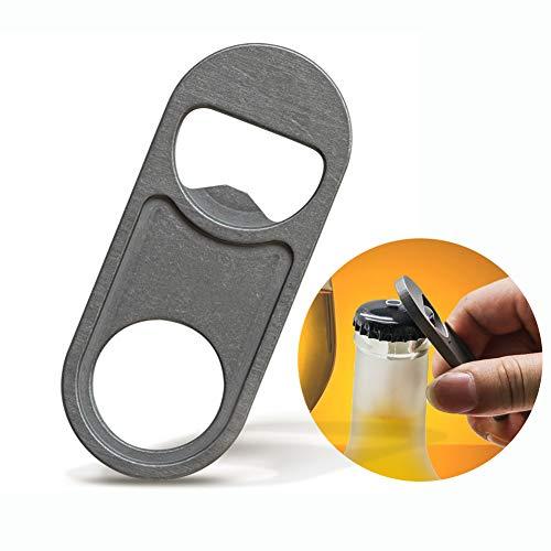 ボトルオープナーチタン製 ビール栓抜き びん蓋開け キーホルダー おしゃれキャップオープナー 軽量 省力