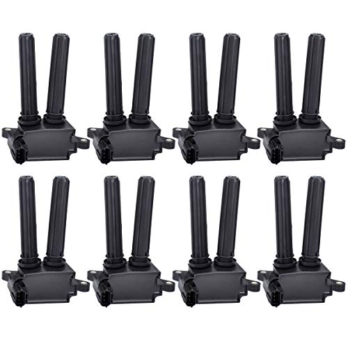 FAERSI Ignition Coil Pack of 8 Replaces # UF504, C1526 for V8 5.7L 6.1L 6.4L - Chrysler 300, Aspen & Dodge Challenger, Charger, Durango, Magnum, Ram & Jeep Commander & More, Years 2005-2016