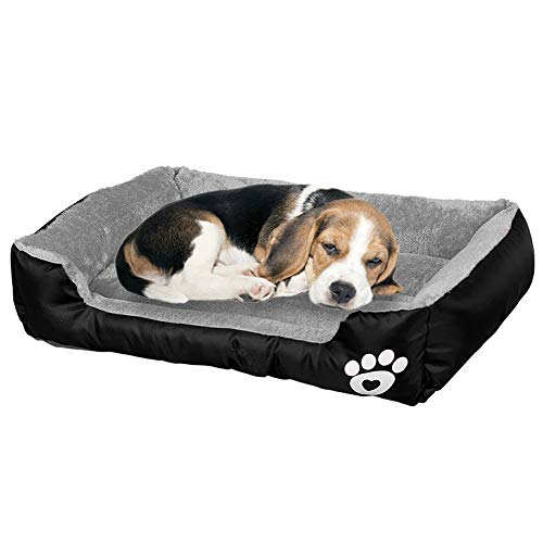 BCOO Dog bed Cat bed Pet bed Super soft pet sofa bed, soft wool fleece PP cotton made into a pet bed, suitable for small medium dogs or cats L:63 * 53 * 15CM(24.8 * 20.9 * 5.9Inch)
