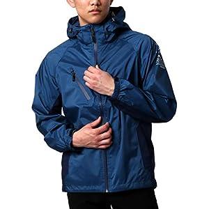 [タルテックス] レインウェア マウンテンパーカー 撥水加工 透湿 防水 防風 メンズ ブルー L