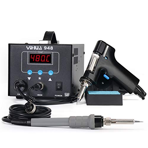 YIHUA 948 2 in 1 ESD Safe 80W Desoldering Station and 60W Soldering Iron- Desoldering Gun and Soldering Station °F /°C