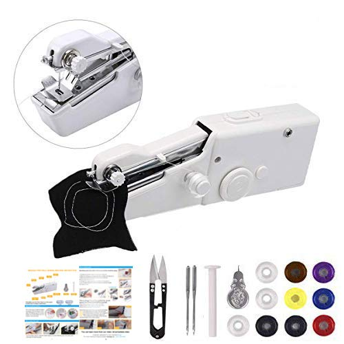 Handheld Sewing Machine,MSDADA Mini Portable Sewing Machine,Electric Household Quick Repairing Tool for...
