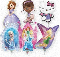 Challenge the lowest price of Japan ☆ Mayflower 74349 14 in. Air trend rank Filled - Girl Balloon Lic Assorted