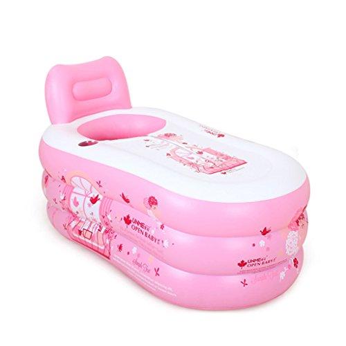 LJF bain gonflable Baignoire gonflable simple Baignoire pour la maison pour adultes Baignoire en plastique pour enfants ( couleur : Rose , taille : 130*70*70cm )
