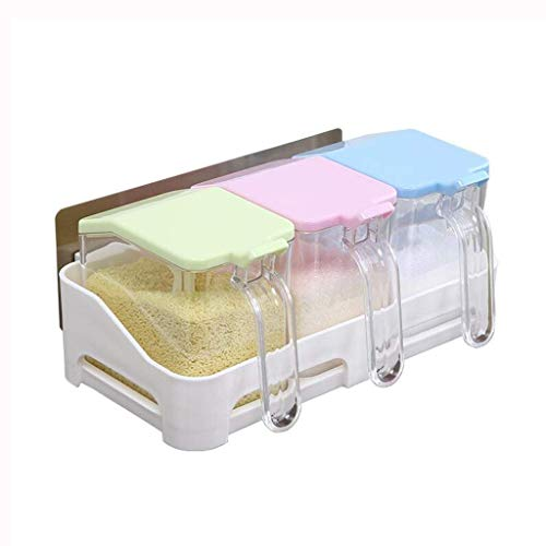 LYMUP Cocina Cuadro de condimento Botella condimento Conjunto de Pared Que cuelga condimento Cuadro de condimento condimento botellero 4 cuadrícula (Size : A)