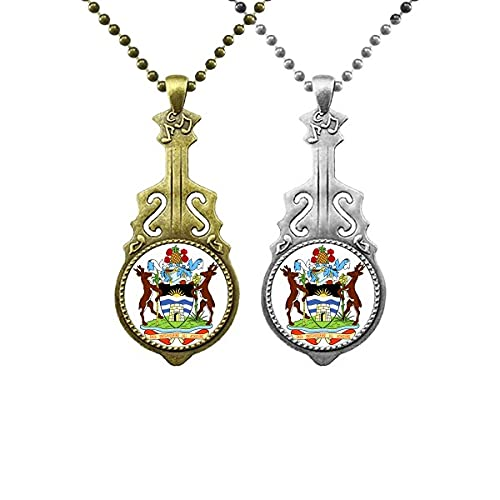 Saint John's Antigua & Barbuda Emblem Liebhaber Musik Gitarre Anhänger Schmuck Halskette Anhänger