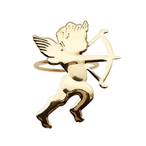 GWHW 12 servilleteros con forma de Cupido servilletero con hebillas, servilleteros, anillos para boda, fiesta, cena, decoración de mesa
