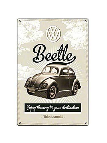 Boggevi Kells Volkswagen – VW Retro Beetle – Idea de regalo para coche, placa de metal – Cartel de metal – Cartel de metal regalo 200 mm x 300 mm