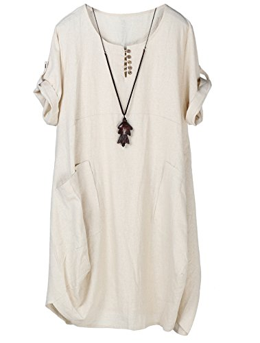 Lightweight Linen Dress - 7