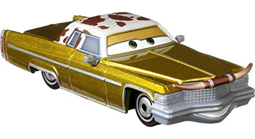 Disney and Pixar Cars Tex Dinoco, Miniature, Collectible Racecar Automobile Toys Based on Cars Movies, for Kids Age 3 and Older