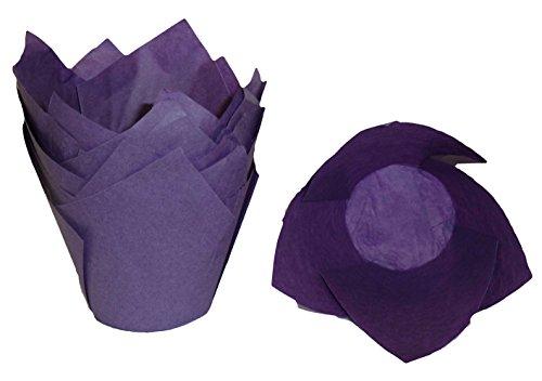 Scrumptious Sprinkles Lot de 200 papiers à Muffin en Forme de Tulipe Violet