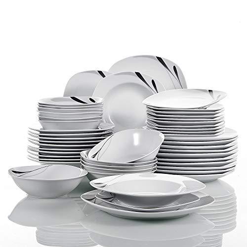 Ritzenhoff /& Breker doppio plato plano plato sopero platos de porcelana gris 27