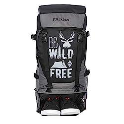 Fur Jaden 55 LTR Rucksack Travel Backpack Bag for Trekking, Hiking with Shoe Compartment,FUR JADEN,BM110_BlackGrey