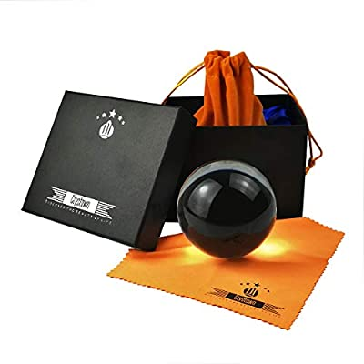 Crystown K9 Clear Crystal Ball, Magic Glass Sphere Ball with Free Pouch and Microfiber Cloth, Photography and Decorative Accessory Gifts