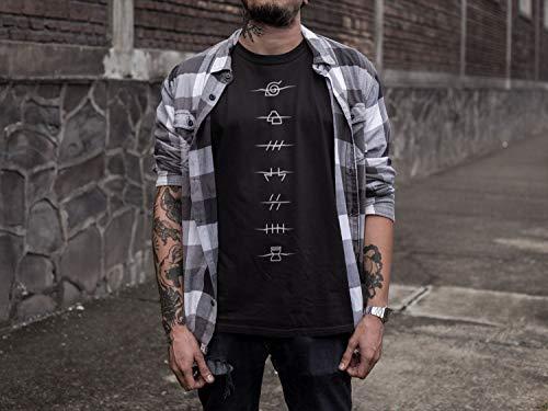 Ripple Junction Naruto Shippuden Anti Village Symbols Adult T-Shirt
